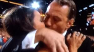 Bryan Cranston kisses Julia