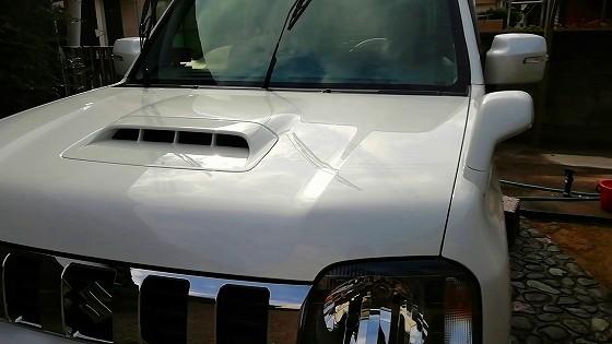 洗車後のジムニー。キレイになりました!