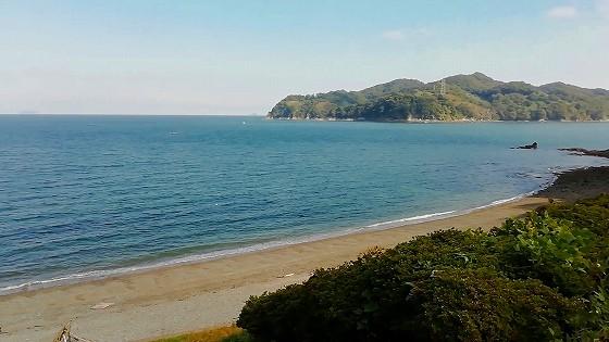 右に大島を望む!