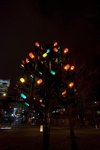 Traffic Light Tree Larbre Aux Feux Tricolores De Pierre