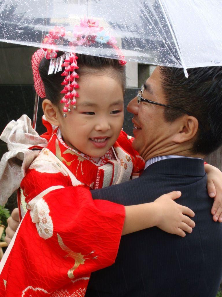 Камакура. На праздник в традиционных одеждах.
