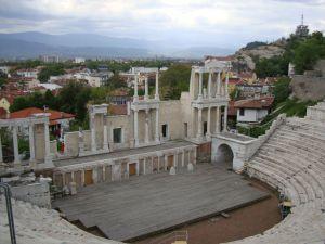 Пловдив. Античный амфитеатр.