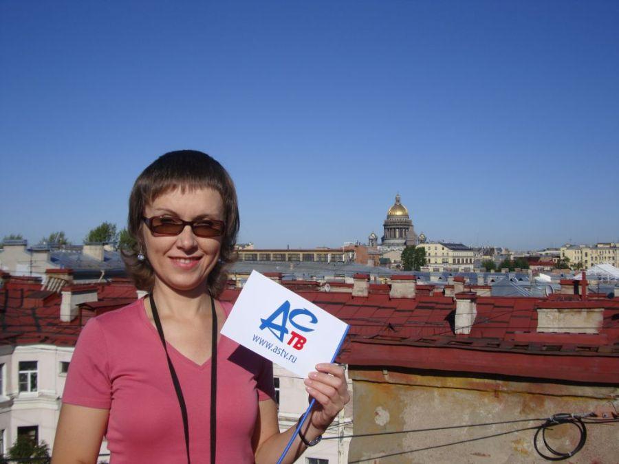 С флажком АСТВ на крыше в Санкт-Петербурге