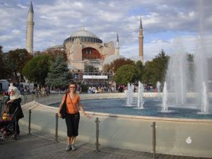 Я на площади Старого Города в Стамбуле
