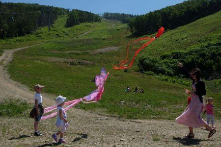 Фестиваль воздушных змеев на Горном воздухе