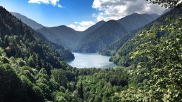 Озеро Рица Несколько кадров дня Абхазия blognemo.ru