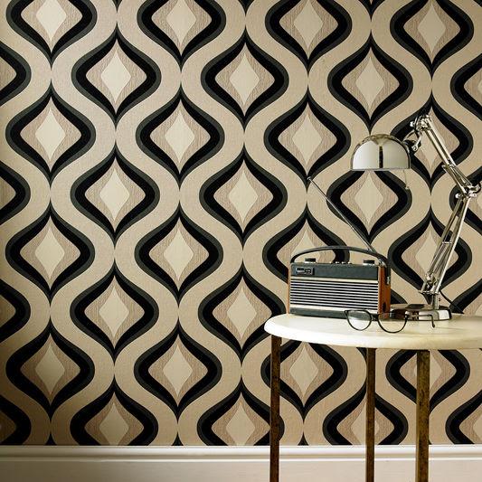retro patterned wallpaper