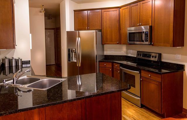 kitchen appliances in a kitchen