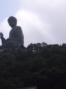 summit of bronze buddha
