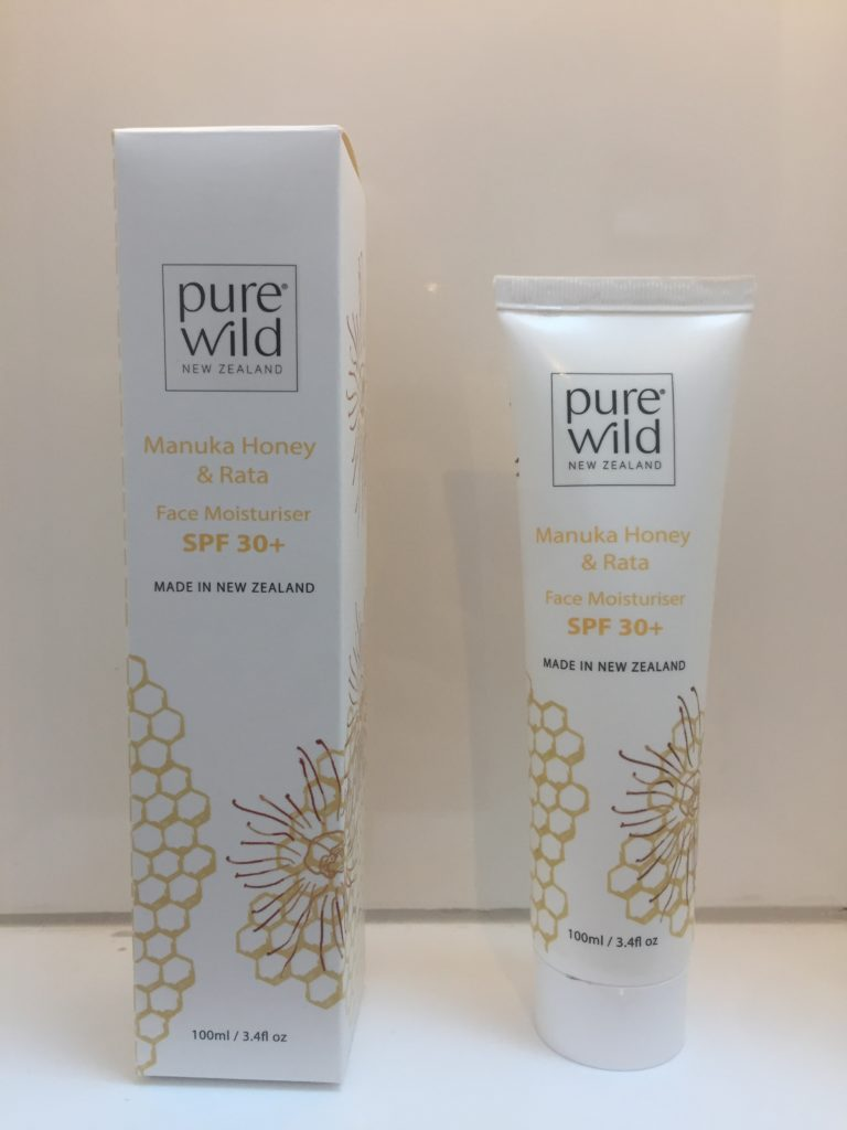 pure wild SPF 30 moisturizer with manuka honey and rata
