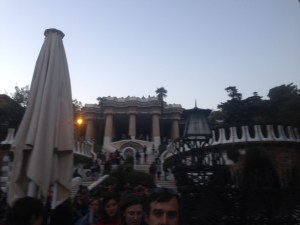 Large pillared building at Park Guell