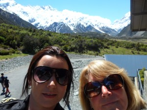 selfie at mount cook