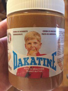 natural peanut butter jar