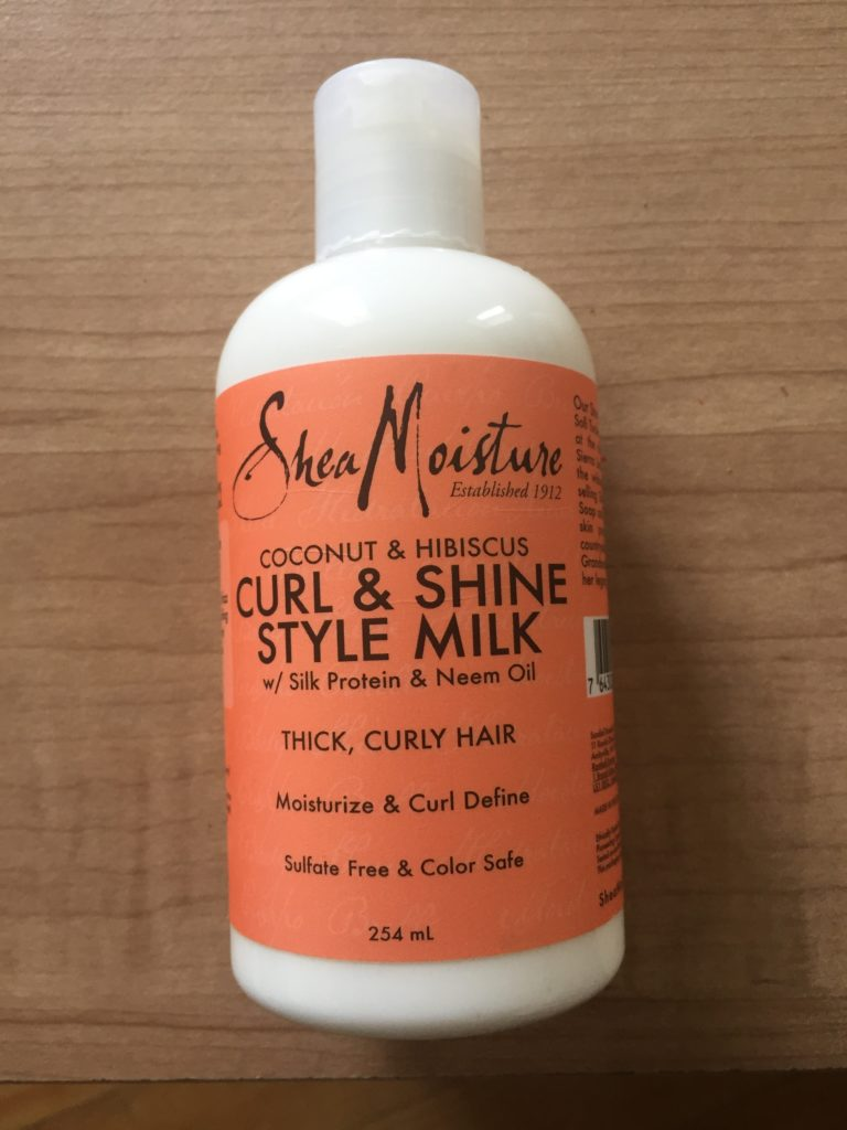 Shea moisture curl and shine style milk