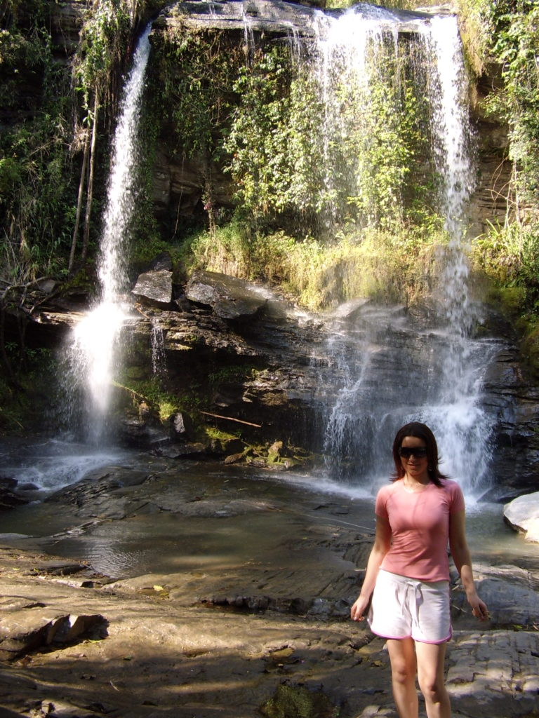 Chiang Mai waterfall with me in photo