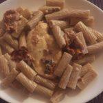 Creamy sun-dried tomato and mozzarella pasta