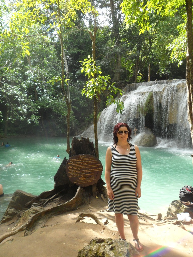 Here I am at Erewan Falls, with my very large baby bump!