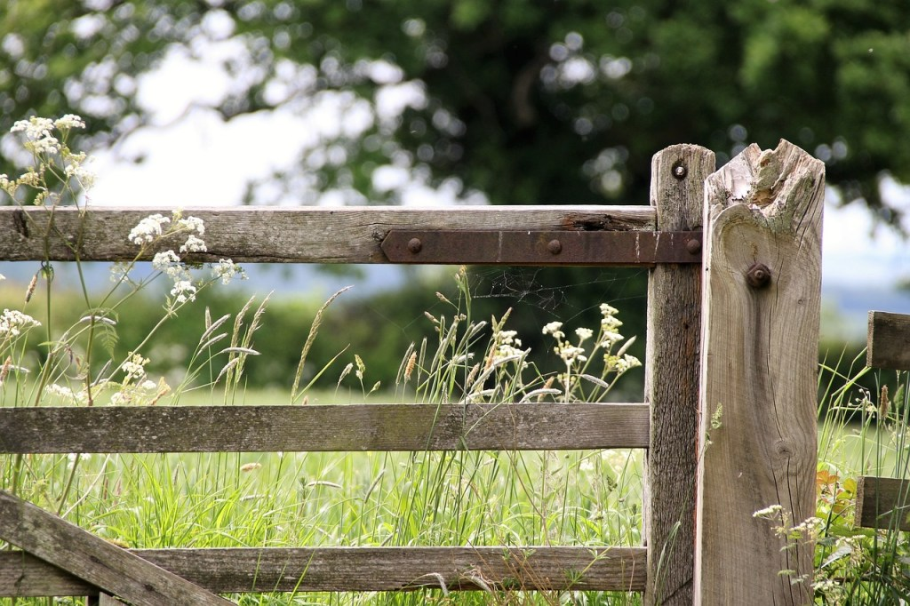 a closed farm gate