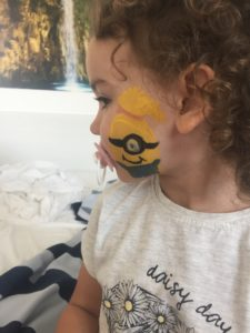 Face painting from the kids club