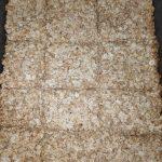 Tray of baked oatmeal and honey flapjacks