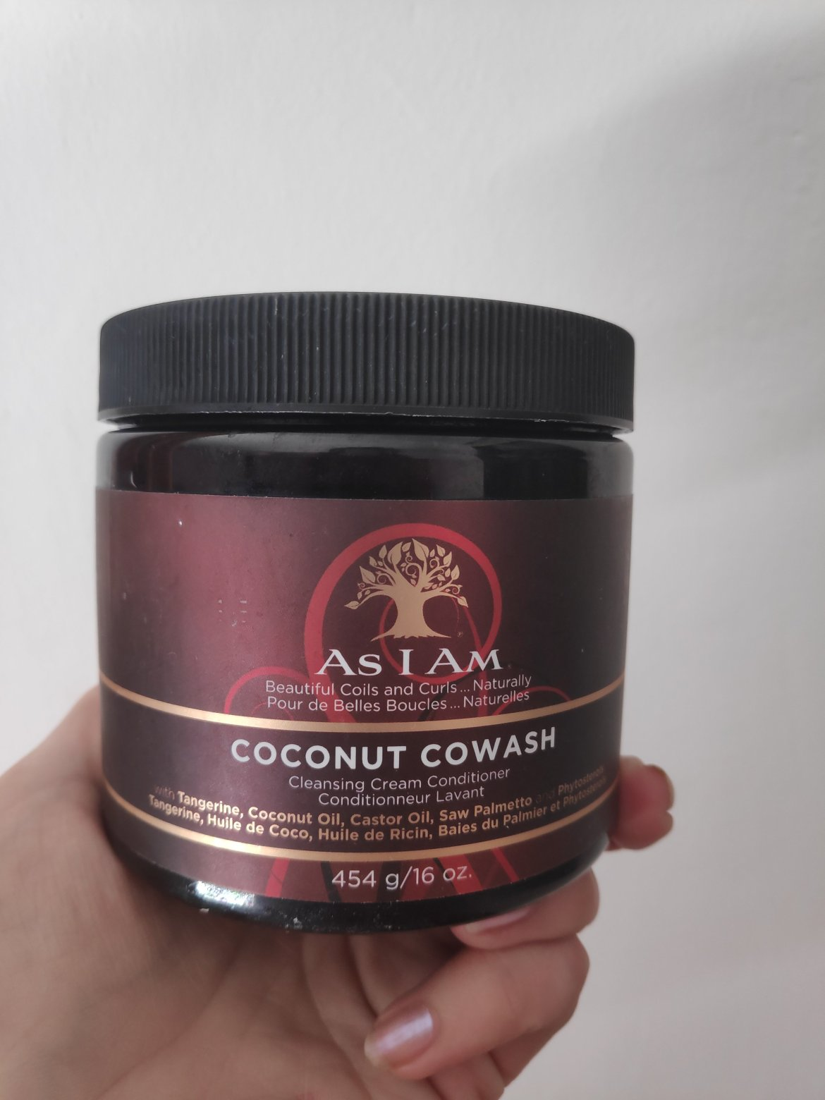 As I Am coconut co wash for type 3a/3b curls