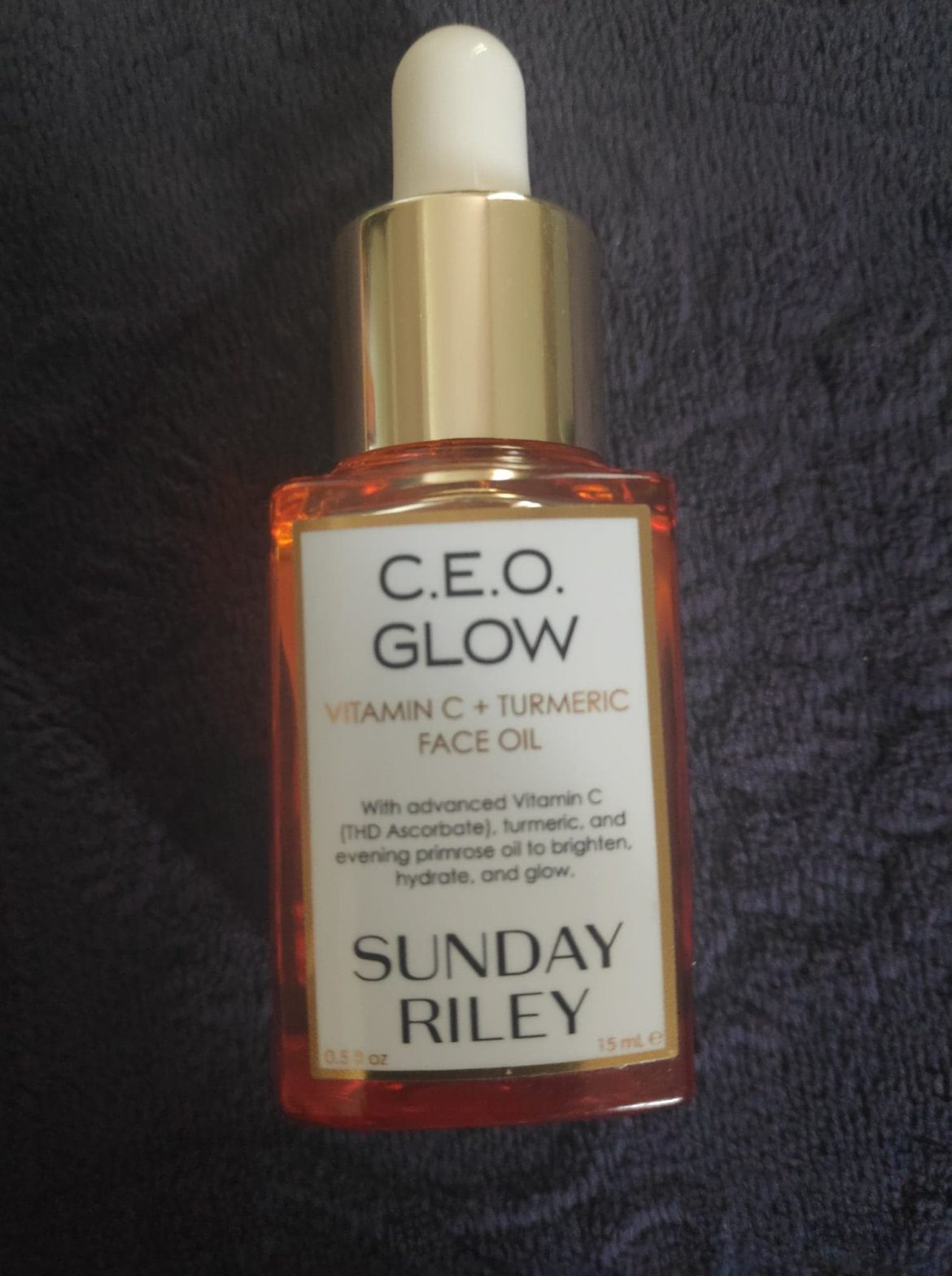 CEO Glow vit c and turmeric face oil by Sunday Riley