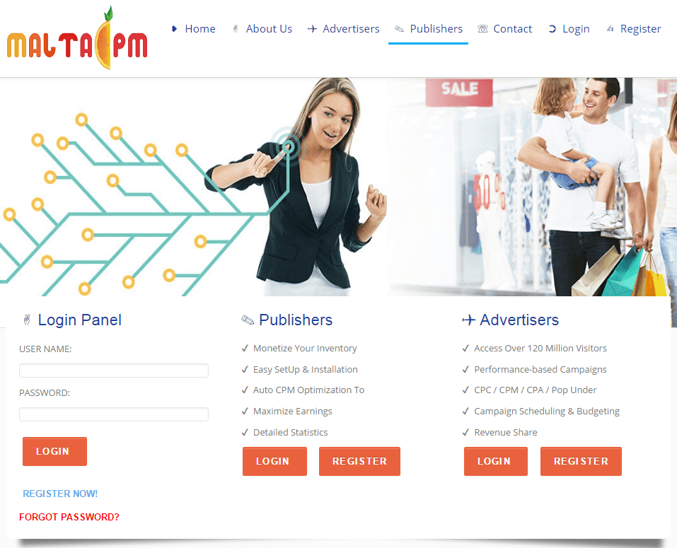 MaltaCPM Review – CPM / PopUp / PopUnder / Direct Link Ad Network 2016