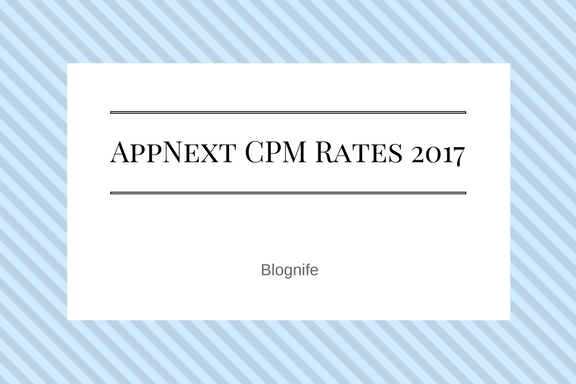 Appnext CPM Rates 2019