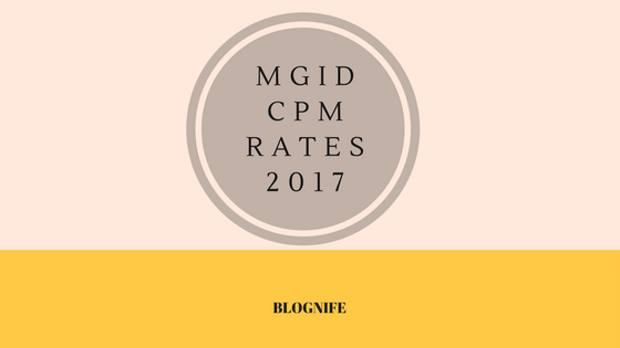 MGID CPM Rates 2019