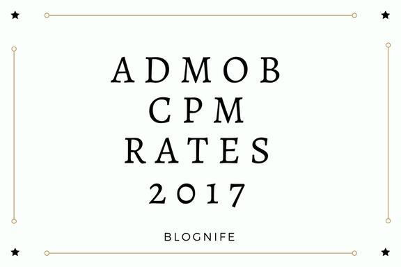 AdMob CPM Rates 2019