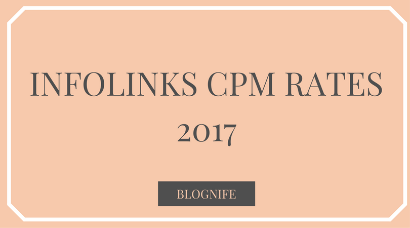 Infolinks CPM Rates 2019