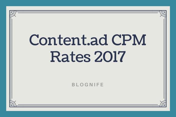 Content.ad CPM Rates 2019