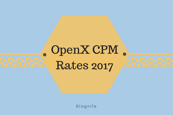 OpenX CPM Rates 2019