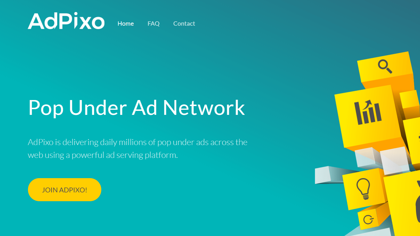 AdPixo Review- High Paying Pop-Under Ad Network