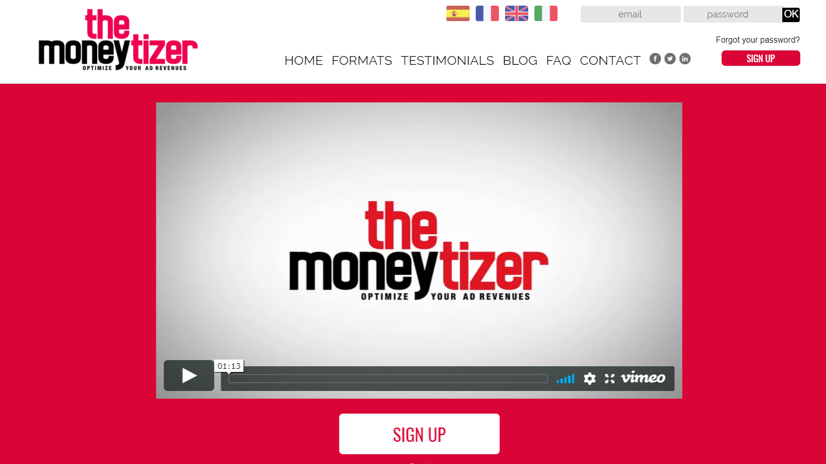 The Moneytizer: A Fast Growing Ad Network for Publishers
