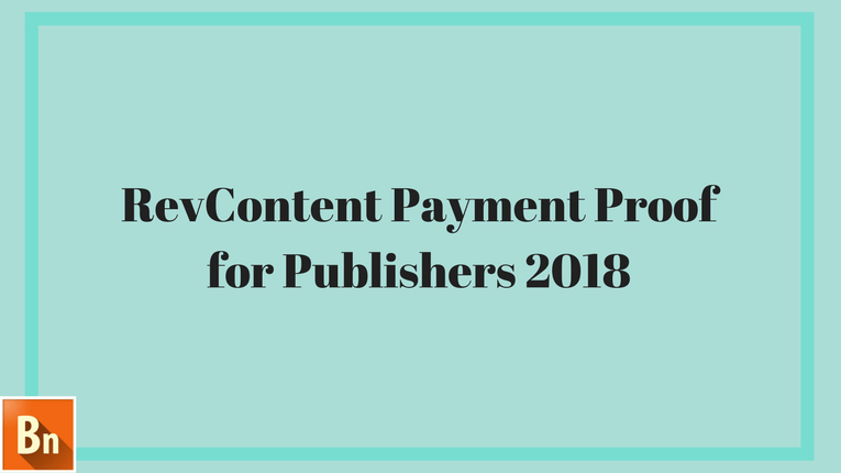 RevContent Payment Proof 2018