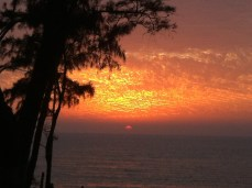 Sunset in Daman, India