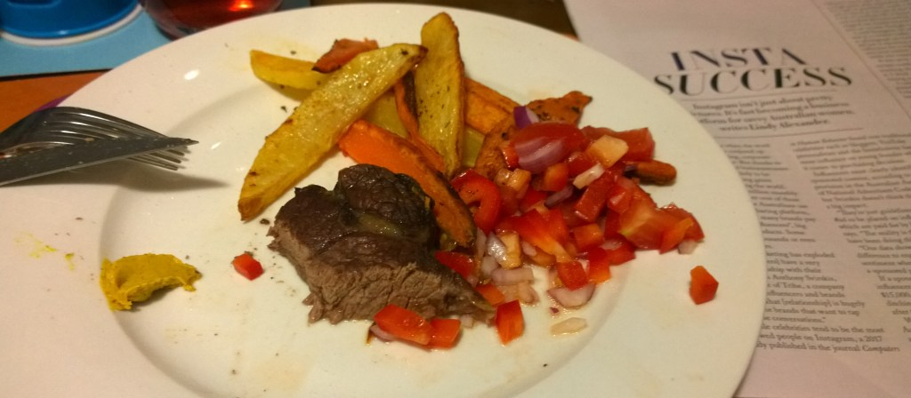 World's worst food blogger, steak and chips with salsa