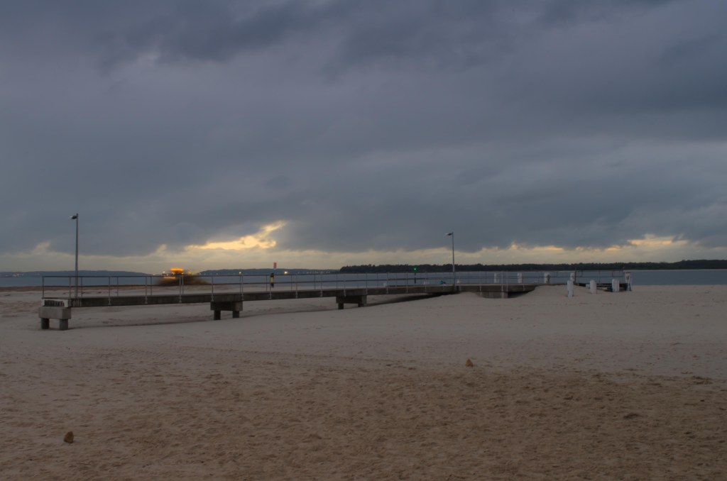 Dolls Point Pier, sunrise, pre-dwan