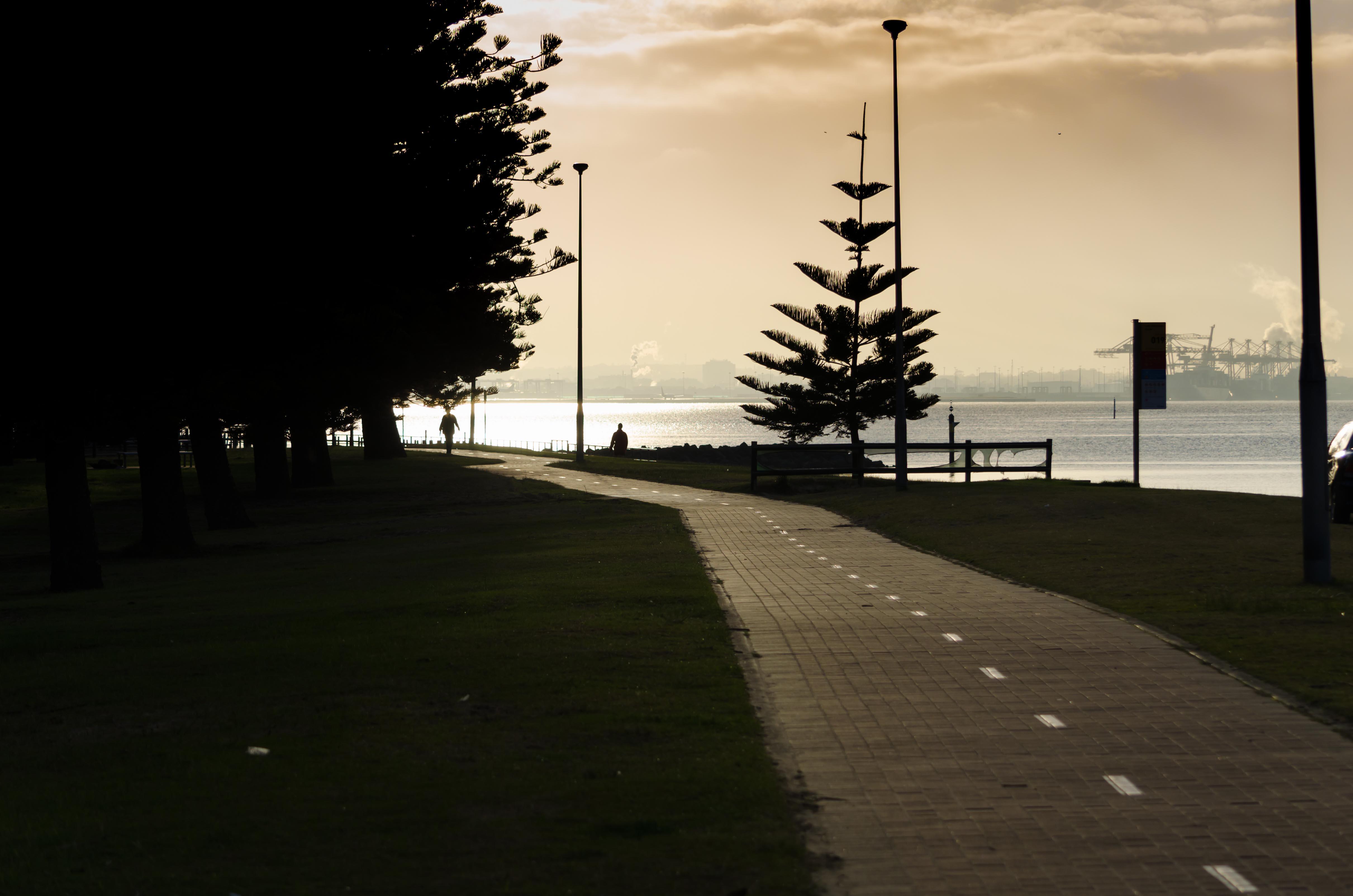 sunrise, Port Botany, sun, ocean, bay, Georges River, Sydney, Australia, water, Dolls Point, dawn, light