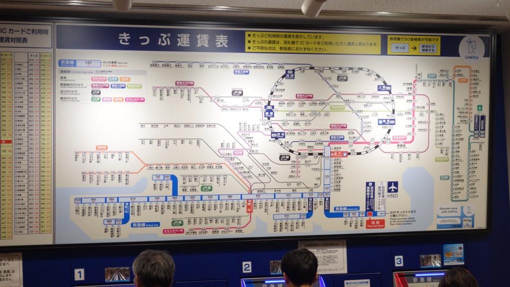 Tokyo railway map