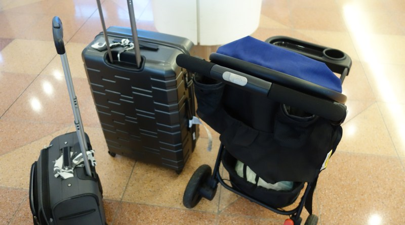 Stroller and suitcase, travel light