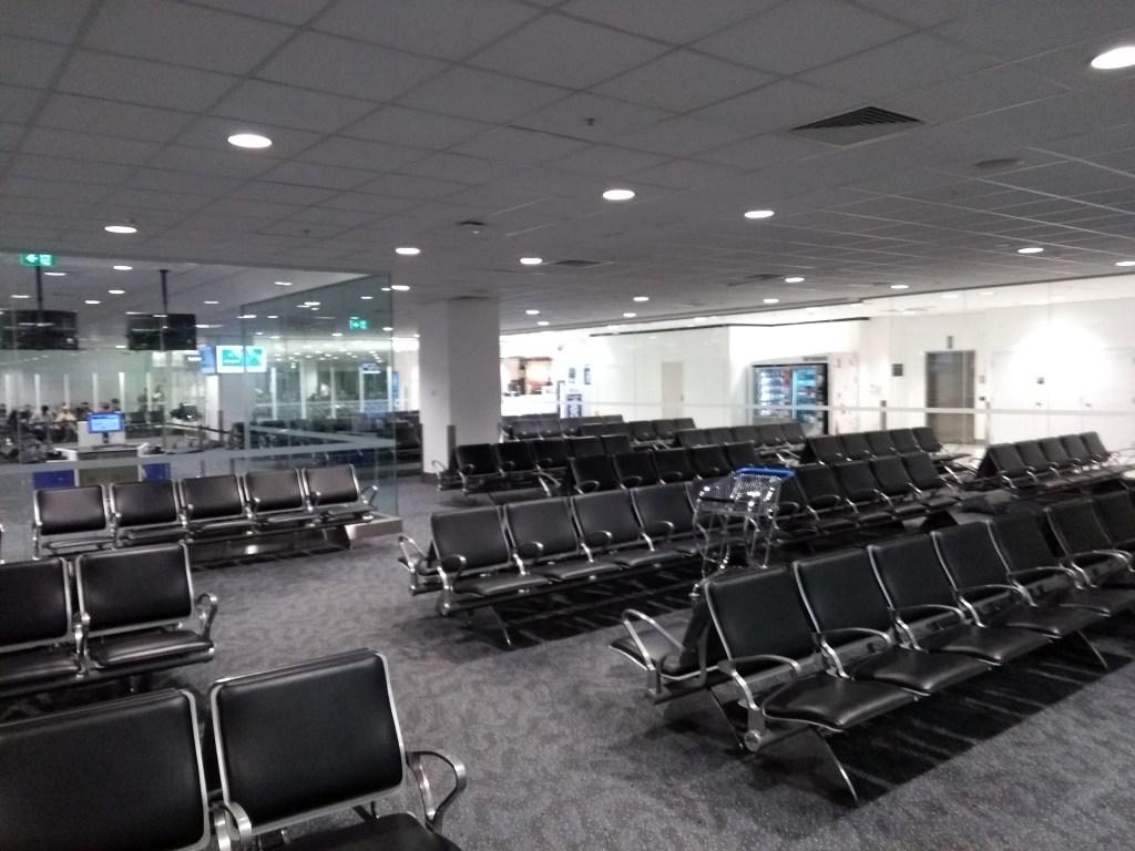 Empty departure lounge, Sydney Airport