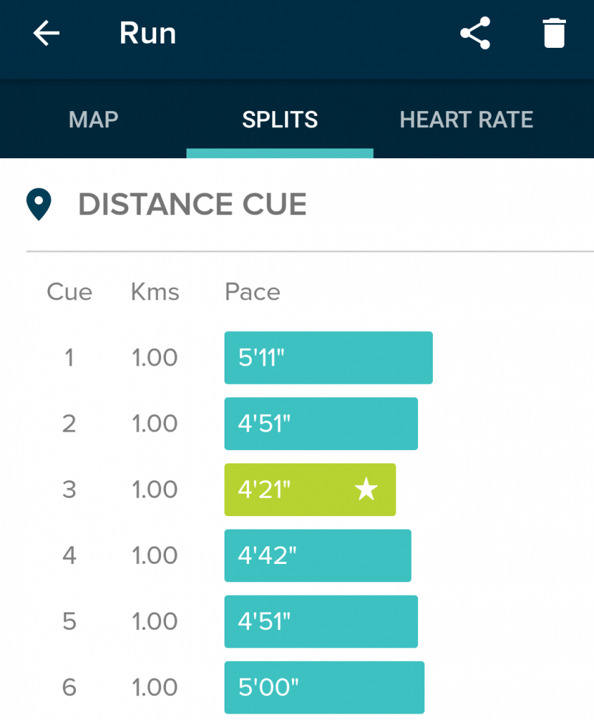 Fitbit Blaze run data