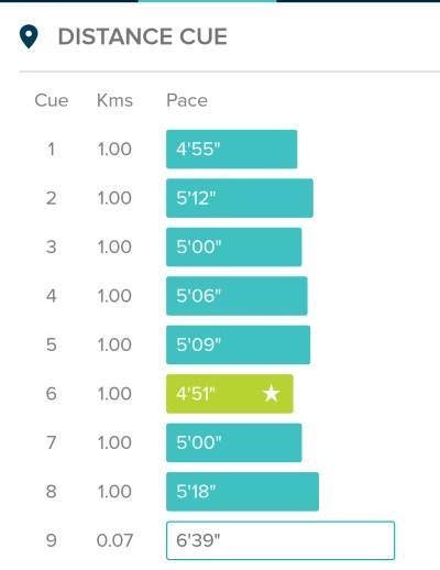 8km times Fitbit
