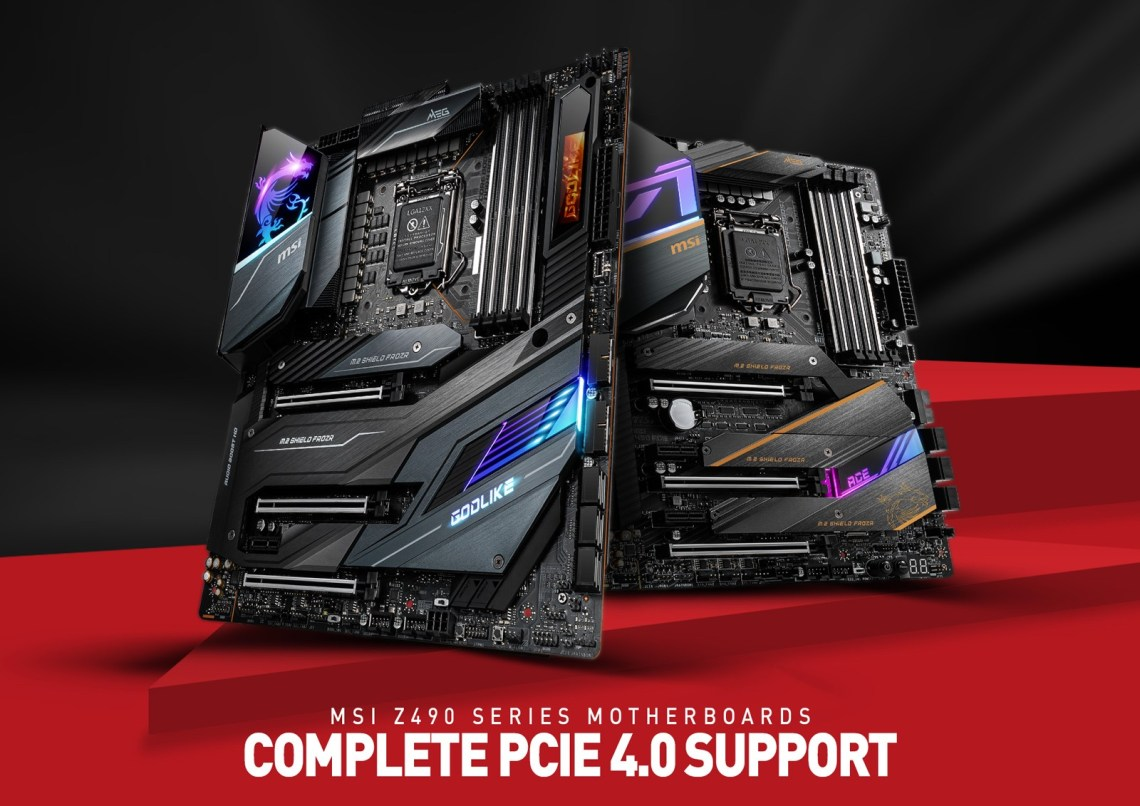 MSI Z490 Motherboards Will Support PCIe 4.0 With Intel 11th Gen Rocket Lake Processors.