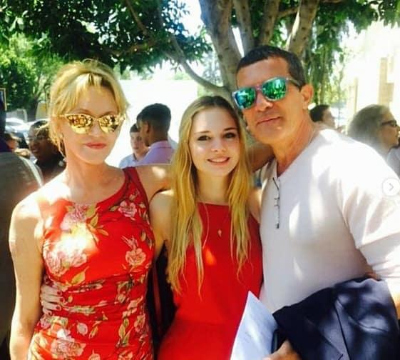 Stella, Antonio Banderas and Melanie Griffith