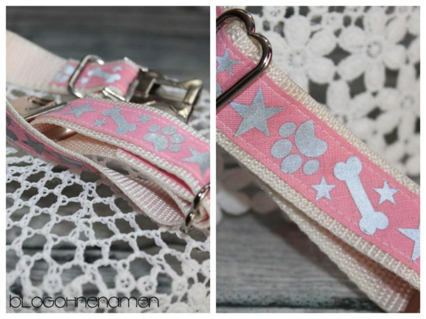 Ein genähtes Hundehalsband mit Hilfe des Plotters verzieren. Hier mit reflektierender Flexfolie & Schrägband.