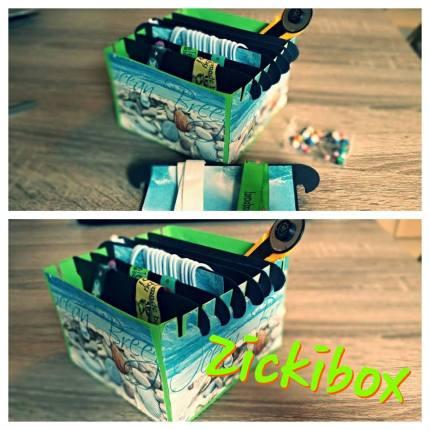 Webbänder aufbewahren, Nähen, Verstauen, Organizer, Ordnungshelfer, Freebie, Plotterfreebie, kostenlose Plotterdatei, Verpackung basteln, paper craft, sewing, zickibox, zackibox, zicki und zacki,tutorial, anleitung