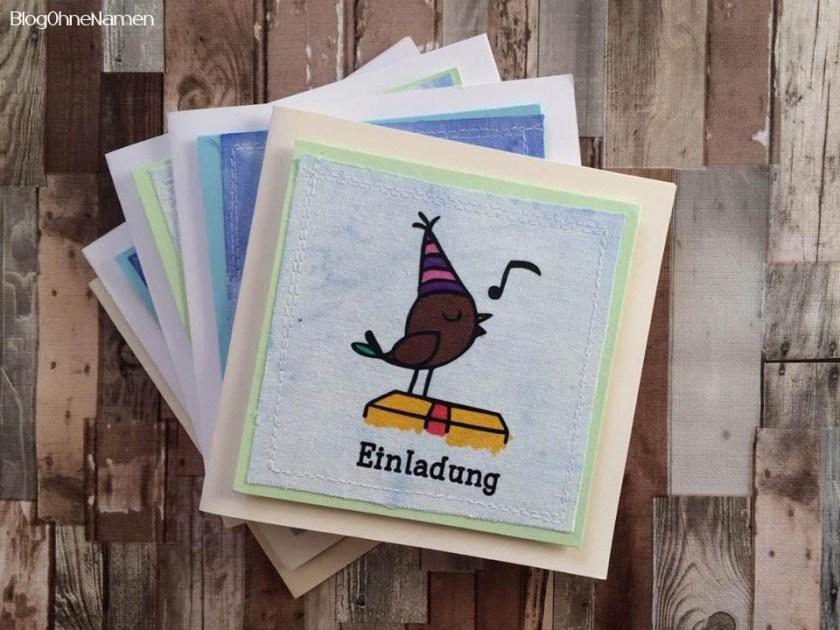 Einladungen mal anders. Mit Plotter,Textilfarbe und ein bisschen Papier etwas hübsches für einen Kindergeburtstag zaubern.